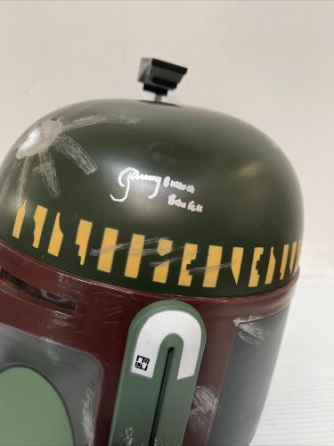 Jeremy Bulloch Signed Autographed Boba Fett Helmet Star Wars Beckett COA 1