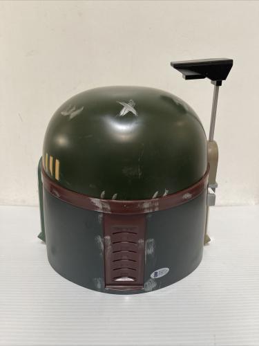Jeremy Bulloch Signed Autographed Boba Fett Helmet Star Wars Beckett COA 2