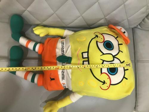 Very Rare 2003 Ncaa Miami Hurricanes Spongebob Squarepants 18' Plush Toy L@@k