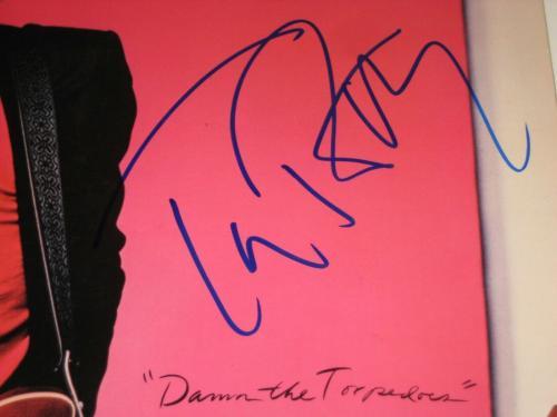 TOM PETTY Signed DAMN THE TORPEDOES LP ALBUM COVER w/ Beckett LOA