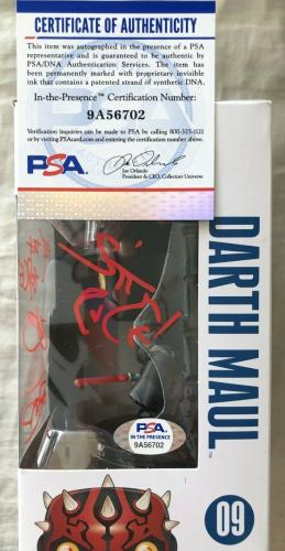 Ray Park signed autographed inscribed 2X Darth Maul Star Wars Funko Pop PSA/DNA