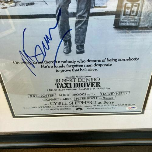 Martin Scorsese Signed Large 18x24 Taxi Driver Movie Poster Framed PSA DNA COA
