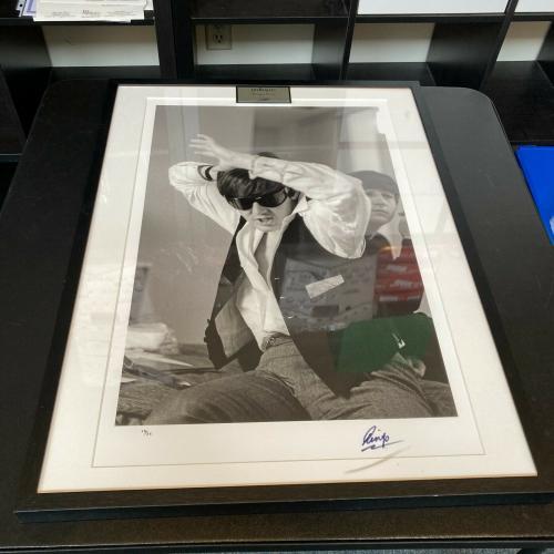 Beautiful Ringo Starr Signed Large 17x27 Photo Limited Edition 13/25 JSA COA