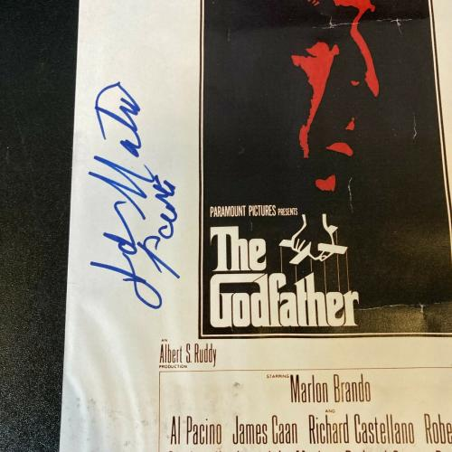 Al Pacino The Godfather Cast Signed 11x17 Original Movie Poster With JSA COA
