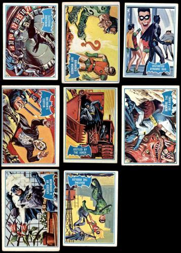 1966 Topps Batman Blue Bat Puzzle Back Complete Set 3 - VG