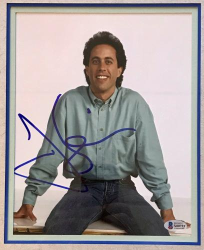 JERRY SEINFELD (Comedian) signed 8x10 custom framed display-BAS