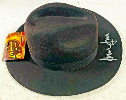 Harrison Ford Indiana Jones Autographed Fedora Hat Signed BAS Beckett Witnessed