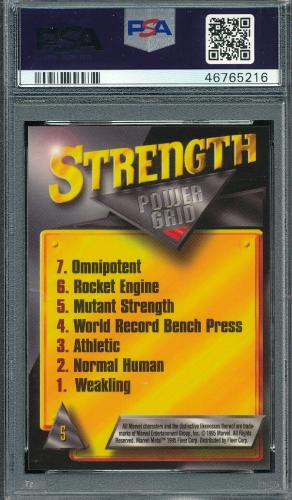 Psa 9 Mint Holocaust Silver Flasher 1995 Marvel Metal #5 Comic Card Rare V-tphlc