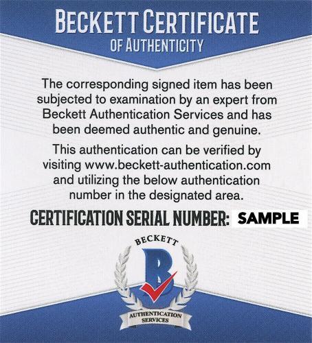 Christian Bale Signed Batman 8 x 10 Photo Police Behind Beckett BAS COA