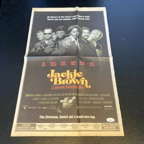 Quentin Tarantino Signed Autographed Jackie Brown Movie Poster With JSA COA