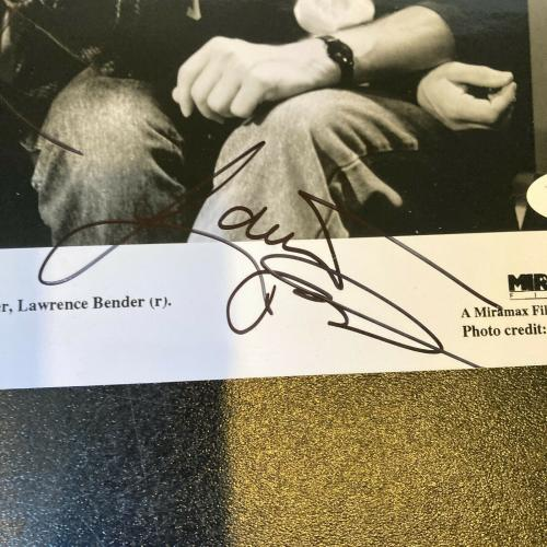 Quentin Tarantino & Lawrence Bender Signed Pulp Fiction Photo With JSA COA