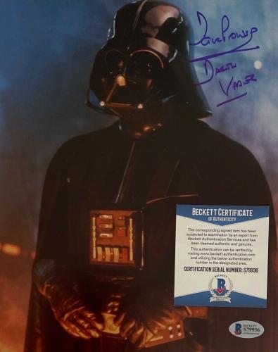 "David Prowse Signed ""Darth Vader"" Star Wars 8x10 Photo BAS S79936"