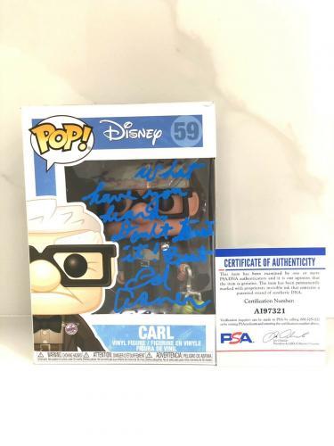 ED ASNER Hand Signed Funko Pop UP Disney PSA DNA CERT