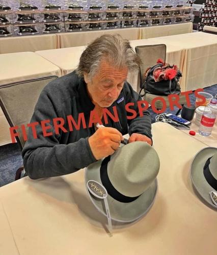 Al Pacino Signed Autographed Grey Hat JSA Authenticated The Godfather