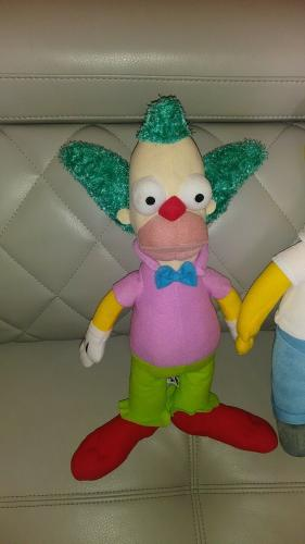 2pc Lot The Simpsons Homer & Krusty The Clow Collectible Plush Toy Set L@@k