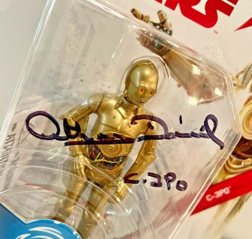 Anthony Daniels C-3PO Star Wars Force Link Hasbro Signed Auto Figure Toy BAS COA