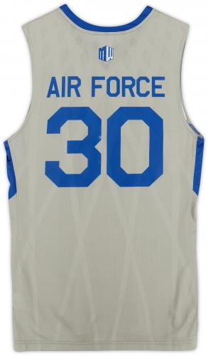 Air Force Falcons Team-Issued #30 Gray Jersey with Blue Collar from the Basketball Program - Size L