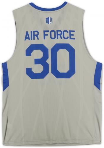 Air Force Falcons Team-Issued #30 Gray Jersey with Blue Collar from the Basketball Program - Size XL