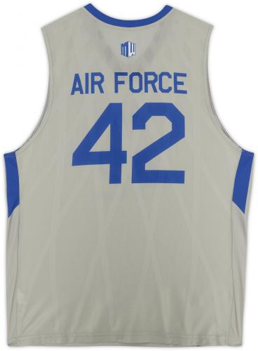 Air Force Falcons Team-Issued #42 Gray Jersey with Blue Collar from the Basketball Program - Size 2XL