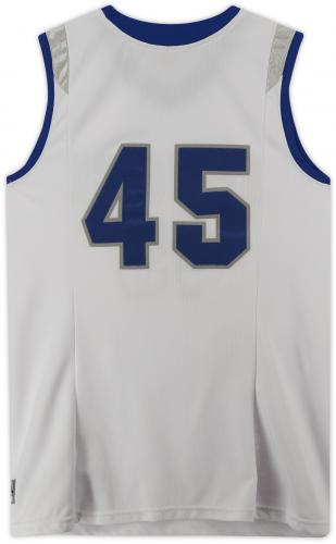 Air Force Falcons Team-Issued #45 White Jersey with Blue Collar from the Basketball Program - Size 2XL