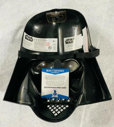Dave David Prowse Darth Vader Signed Star Wars Movie Mask Beckett BAS COA