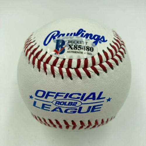 George Clooney Signed Autographed Official League Baseball Beckett COA Celebrity