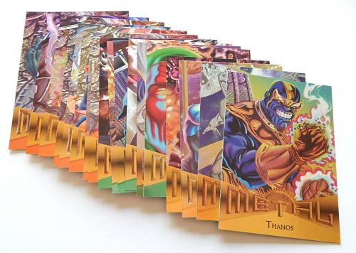 1995 Fleer Marvel Metal Near Complete Trading Card Set (136/138) Nm