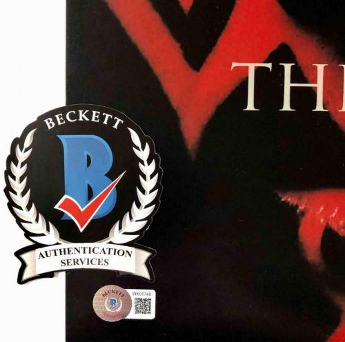 """Ray Park """"Darth Maul"""" signed Star Wars 11x17 movie poster photo BAS COA Beckett"""
