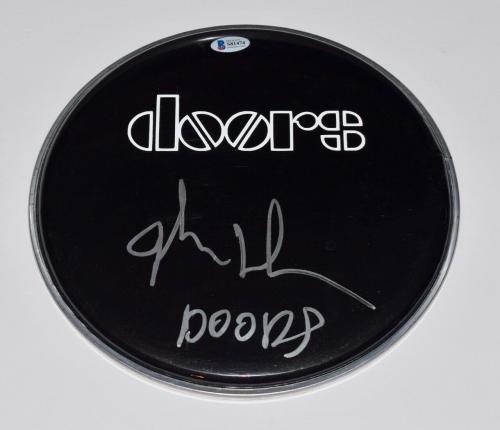 "John Densmore Signed Autographed 10"" Drumhead The Doors Beckett BAS COA"