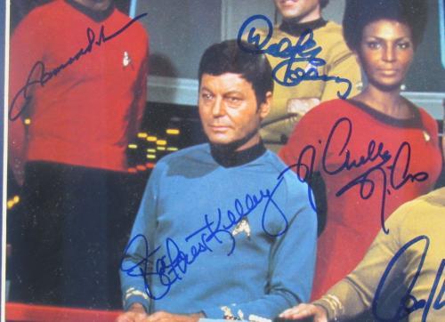 Star Trek Enterprise Complete Crew Signed 11x14 Leonard Nimoy DeForest Kelley +5