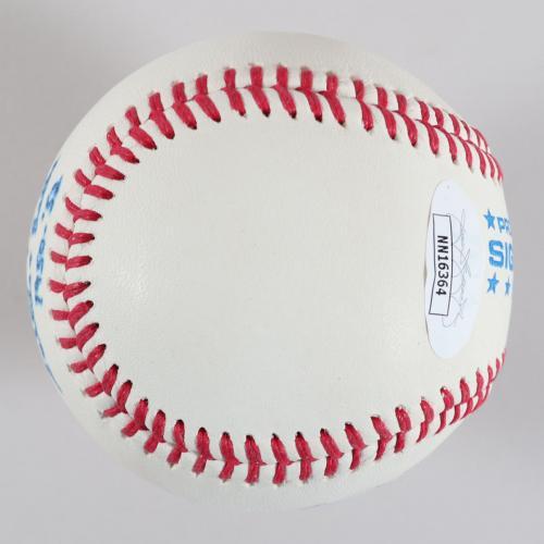Mary Moore Signed Baseball & Card Battle Creek Belles – COA JSA