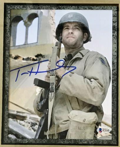 TOM HANKS (Saving Private Ryan) custom framed photo display-JSA