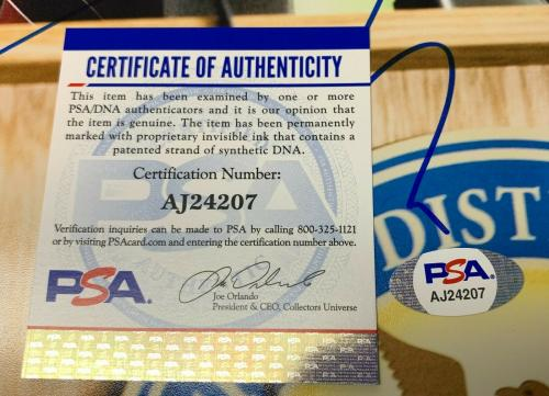 "Aaron Eckhart Signed  11x14 Photo ""The Dark Knight"" PSA AJ24207 Autographed"