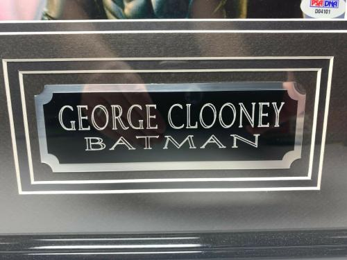 "George Clooney Signed & Framed ""Batman"" 14x18 Photo PSA D04101"