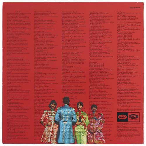 Beatles (3) McCartney, Harrison & Starr Signed Sgt. Pepper's Album Cover PSA/DNA