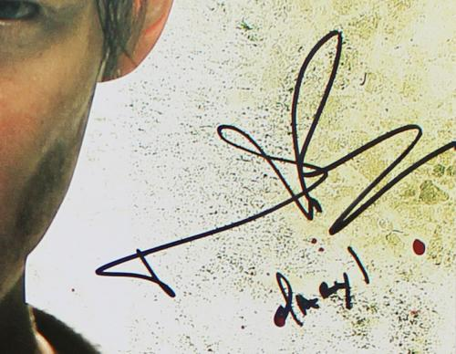 Norman Reedus Signed The Walking Dead Unframed Poster – With Crossbow