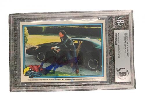 David Hasselhoff Signed Autograph Slabbed Donruss Knight Rider Card Beckett 2