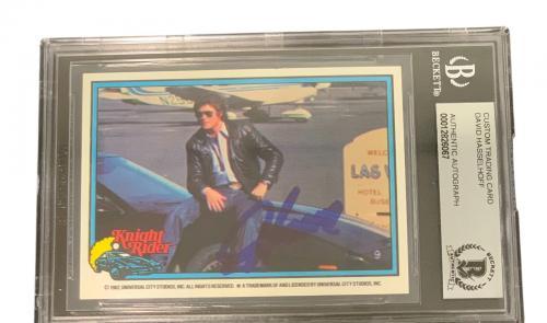 David Hasselhoff Signed Autograph Slabbed Donruss Knight Rider Card Beckett 3