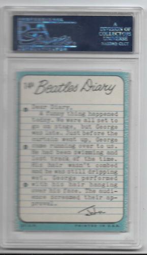 1964 The Beatles Diary John Lennon Card #14a Psa 7 Nm