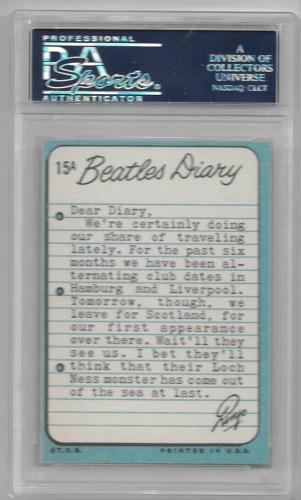 1964 The Beatles Diary Ringo Starr Card #15a Psa 7 Nm