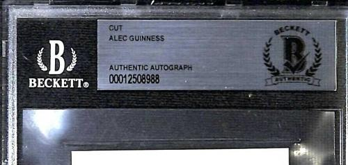 ALEC GUINNESS Star Wars Signed Autographed 3x5 Index Card Beckett BAS SLABBED