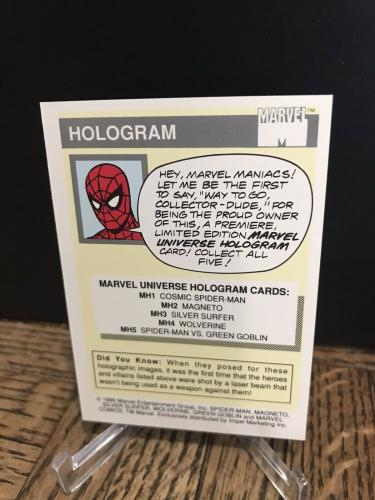 Vintage Marvel 1990 Impel X-men Wolverine Hologram Trading Card Authentic Rare 1