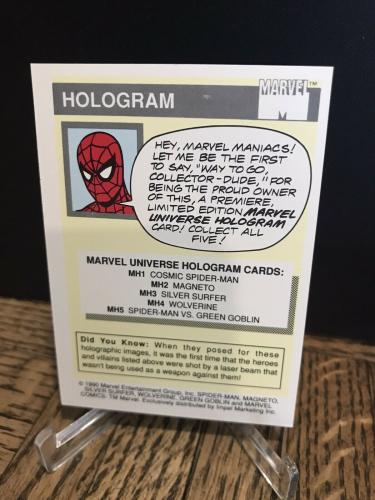 Vintage Marvel 1990 Impel Magneto X-men Hologram Trading Card Authentic Rare 4