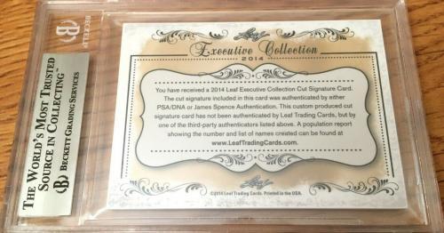 Shirley Eaton 2014 Leaf Masterpiece Cut Signature signed auto 1/1 JSA Goldfinger