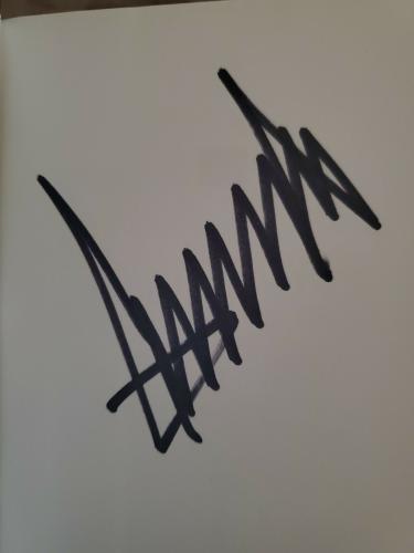 Donald Trump Signed Autographed Hardcover Book Crippled America Jsa Coa Spence