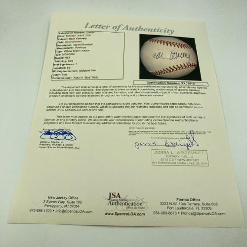 Sean Connery James Bond Single Signed Autographed Baseball JSA COA RARE