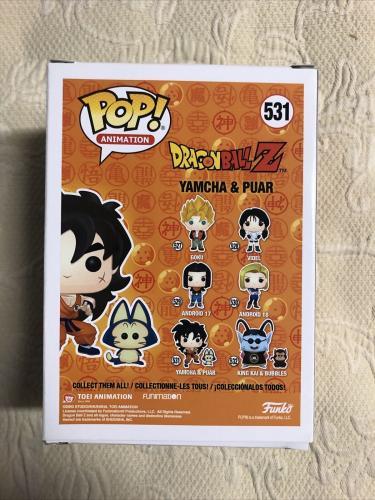 Chris Sabat Signed Yamcha & Puar Funko Pop Dragon Ball Z JSA Sticker Only