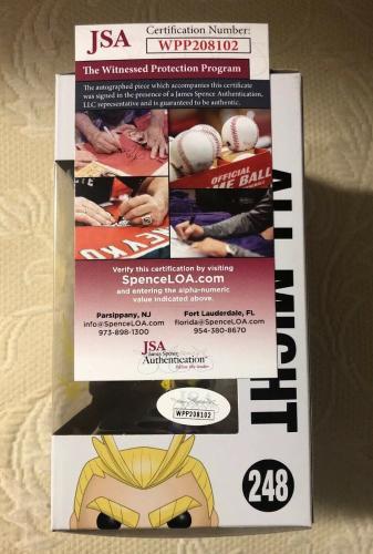 Chris Sabat Signed Autographed ALL MIGHT Funko Pop MY HERO ACADEMIA JSA COA 15