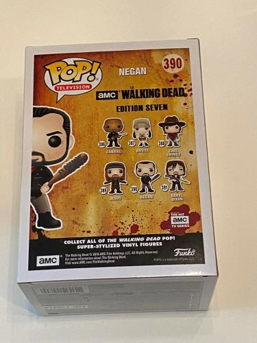 Jeffrey Dean Morgan Signed Negan Funko Pop Figure The Walking Dead Beckett COA