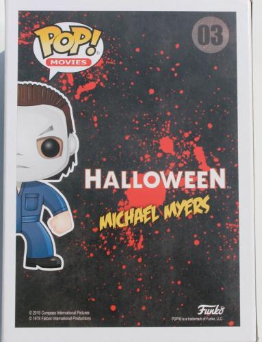 Nick Castle Halloween Signed Michael Meyers #03 Funko Pop w/Beckett COA BB96223